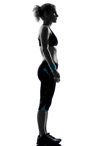 Woman Standing for Postural Assessment