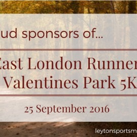 Proud Sponsors of… East London Runners ELVIS Race