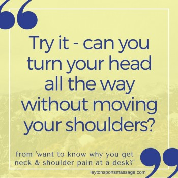 Neck pain cause quote