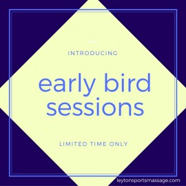 New! Early Bird Time Slots