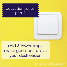 Mid & Lower Traps Activation: Make Desk Posture Easier